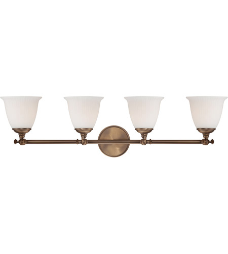 Savoy House Bradford 4 Light Vanity Light in Heirloom Brass 8-6830-4-178 photo