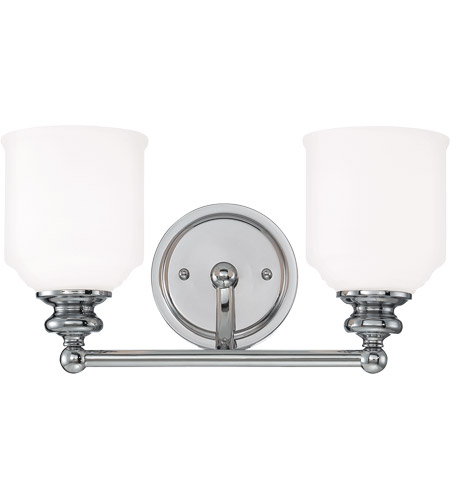 Savoy House Melrose 2 Light Vanity Light in Polished Chrome 8-6836-2-11