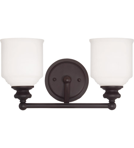 Savoy House 8-6836-2-13 Melrose 2 Light 15 inch English Bronze Bath Bar Wall Light  photo
