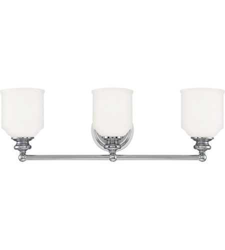 Savoy House Melrose 3 Light Bath Bar in Polished Chrome 8-6836-3-11 photo