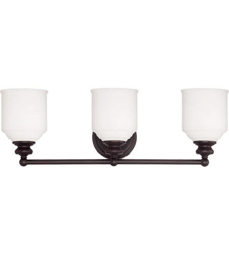 Savoy House 8-6836-3-13 Melrose 3 Light 24 inch English Bronze Bath Bar Wall Light photo