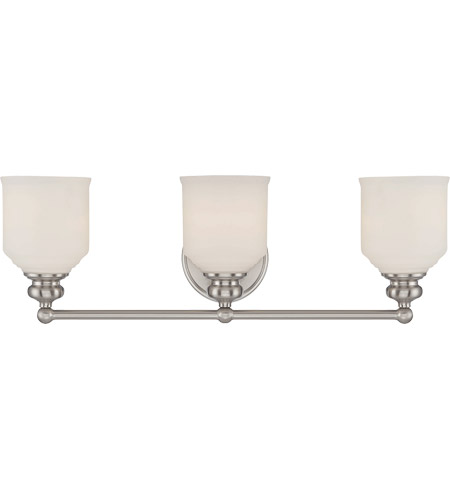 Savoy House 8-6836-3-SN Melrose 3 Light 24 inch Satin Nickel Bath Bar Wall Light photo