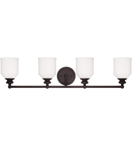 Savoy House 8-6836-4-13 Melrose 4 Light 34 inch English Bronze Bath Bar Wall Light photo