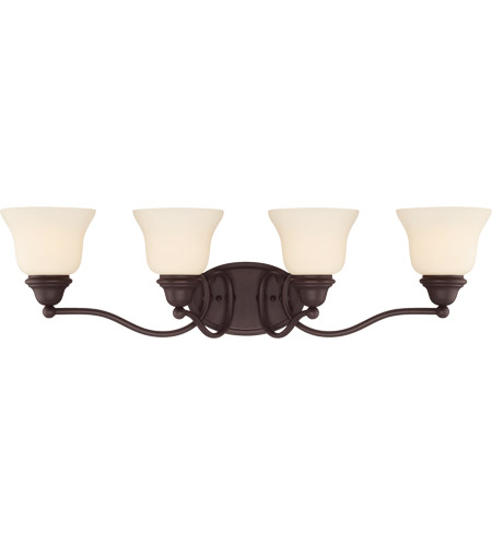 Savoy House 8-6837-4-13 Yates 4 Light 31 inch English Bronze Bath Bar Wall Light photo