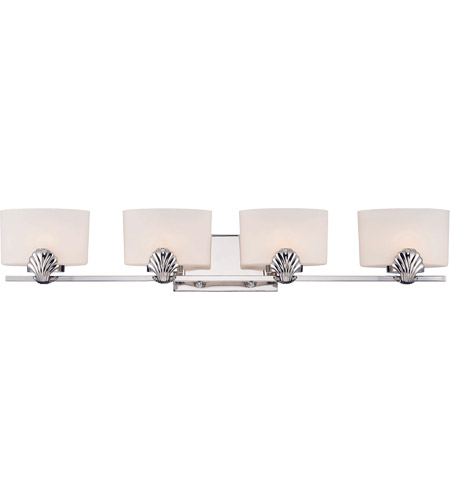Savoy House 8-7500-4-109 Pearl 4 Light 33 inch Polished Nickel Vanity Light Wall Light photo
