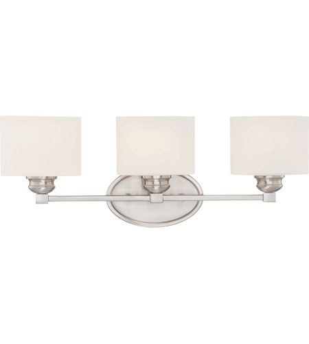 Savoy House 8-890-3-SN Kane 3 Light 24 inch Satin Nickel Bath Bar Wall Light photo