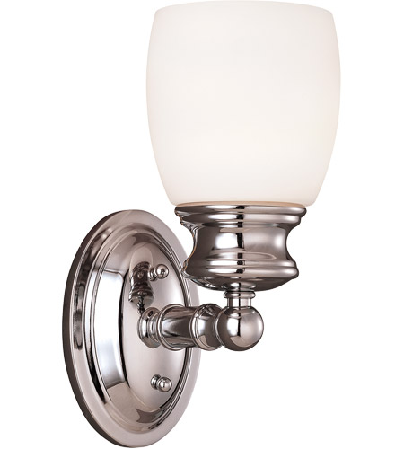 Savoy House Elise 1 Light Vanity Light in Polished Chrome 8-9127-1-11