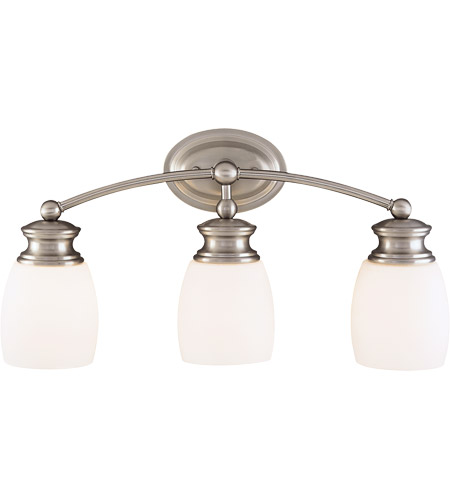 Savoy House 8-9127-3-SN Elise 3 Light 21 inch Satin Nickel Bath Bar Wall Light photo