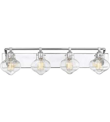 Savoy House 8-9400-4-11 Allman 4 Light 36 inch Polished Chrome Bath Bar Wall Light photo