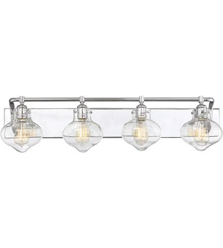 Savoy House 8 9400 4 11 Allman Light 36 Inch Polished Chrome Bath Bar Wall