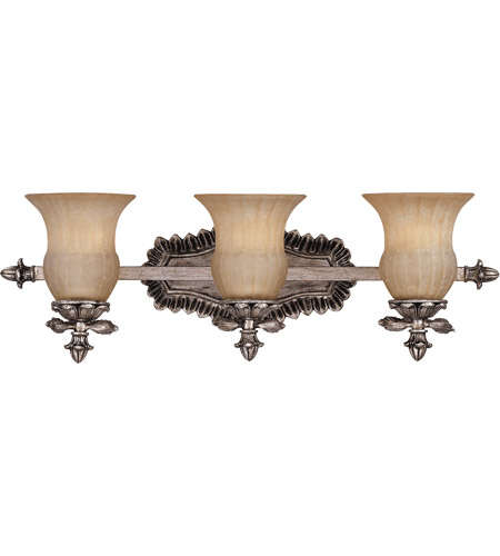 Savoy House Florita 3 Light Vanity Light in Silver Lace 8-9733-3-176 photo