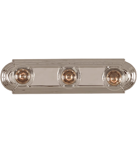 Savoy House Pour Le Bain 3 Light Vanity Light in Chrome 87120-CH