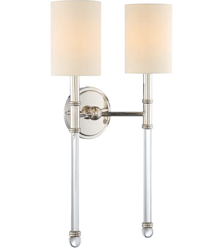 Savoy House 9-103-2-109 Fremont 2 Light 13 inch Polished Nickel Sconce Wall Light photo