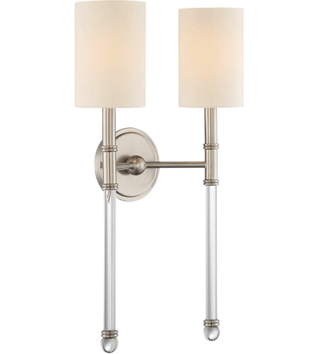 Savoy House 9-103-2-SN Fremont 2 Light 13 inch Satin Nickel Sconce Wall Light photo