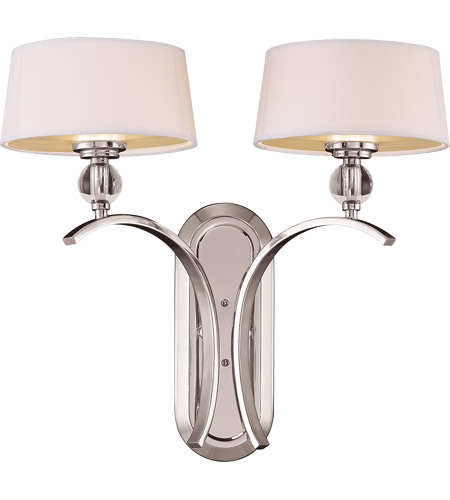Savoy House Murren 2 Light Wall Sconce in Polished Nickel 9-1040-2-109