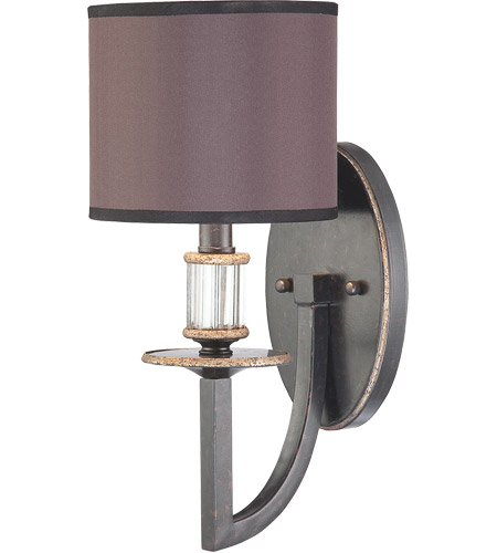Savoy House Moderne Royal 1 Light Wall Sconce in Distressed Bronze 9-1077-1-59 photo