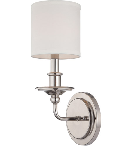 Savoy House Aubree 1 Light Sconce in Polished Nickel 9-1150-1-109 photo