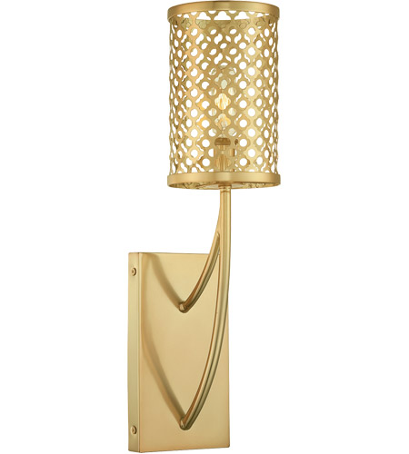 Savoy House Fairview 1 Light Sconce in Rubbed Brass 9-1283-1-325 photo