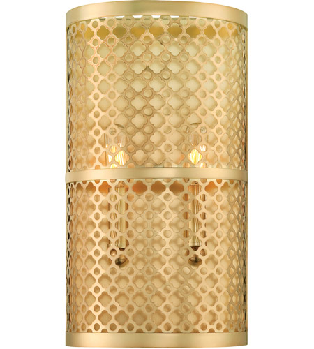 Savoy House Fairview 2 Light Sconce in Rubbed Brass 9-1284-2-325 photo