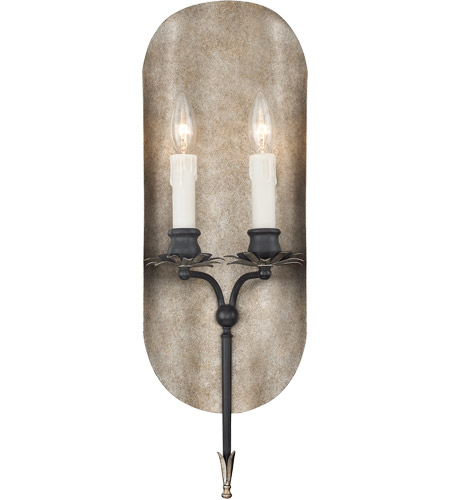 Savoy House Amiena 2 Light Sconce in Aged Iron with Soft Copper Accents 9-1322-2-326