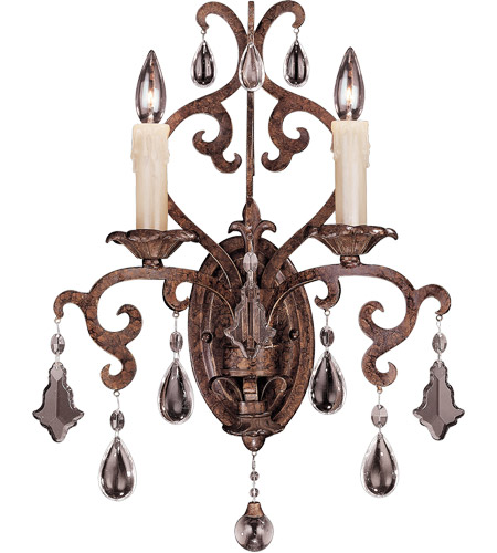 Savoy House Florence 2 Light Wall Sconce in New Tortoise Shell 9-1409-2-56 photo