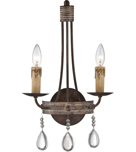 Savoy House Carlisle 2 Light Sconce in Bronze Patina 9-203-2-15 photo