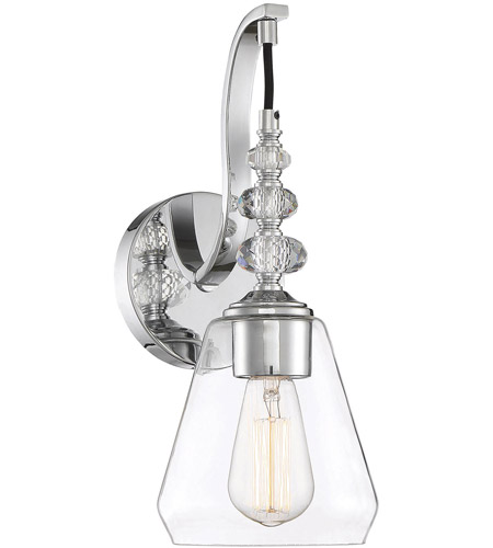 Savoy House 9-2153-1-11 Apollo 1 Light 6 inch Polished Chrome Wall Sconce Wall Light photo