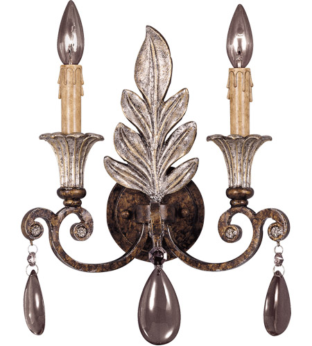 Savoy House St. Laurence 2 Light Wall Sconce in New Tortoise Shell w/ Silver 9-3010-2-8