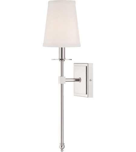 Savoy House Monroe 1 Light Sconce in Polished Nickel 9-302-1-109