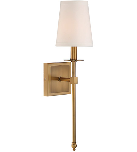 Savoy House 9-302-1-322 Monroe 1 Light 5 inch Warm Brass Sconce Wall Light photo