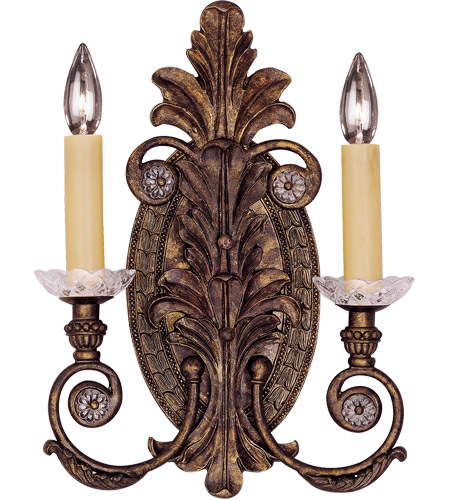 Savoy House Corsica 2 Light Wall Sconce in New Tortoise Shell 9-3415-2-56