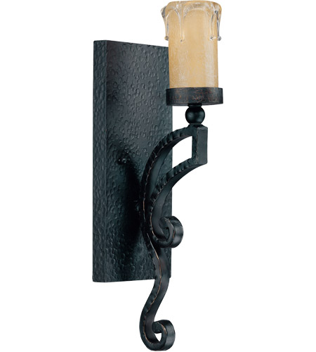 Savoy House Calvi 1 Light Wall Sconce in Como Black w/ Gold 9-348-1-62 photo