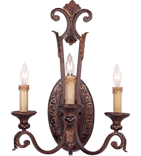 Savoy House Gallant 3 Light Wall Sconce in Florencian Bronze 9-36759-3-76 photo