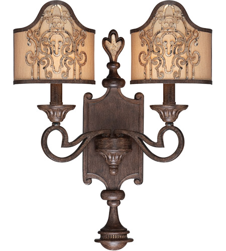 Savoy House Windsor 2 Light Sconce in Fiesta Bronze with Gold Highlights 9-3953-2-124