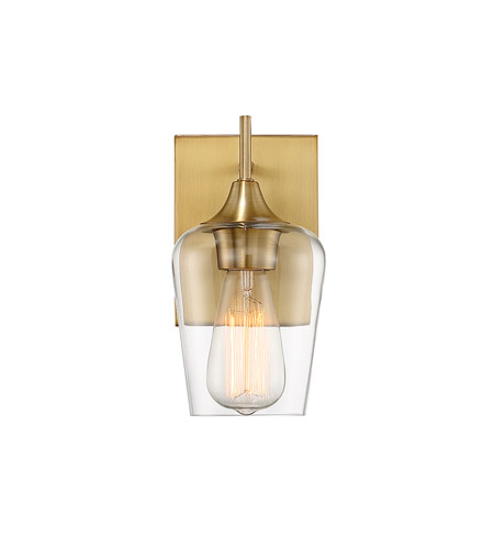 Savoy House 9 4030 1 322 Octave 1 Light 5 Inch Warm Brass Wall Sconce Wall  Light