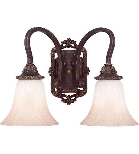 Savoy House Cordoba 2 Light Wall Sconce in Antique Copper 9-4094-2-16 photo