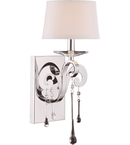 Savoy House Niva 1 Light Wall Sconce in Polished Chrome 9-4246-1-11 photo