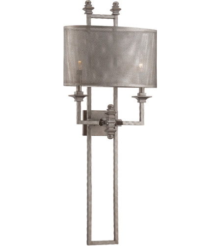 Savoy House Structure 2 Light Sconce in Aged Steel 9-4304-2-242 photo