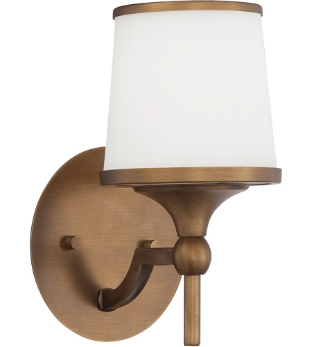 Savoy House Hagen 1 Light Wall Sconce in Heirloom Brass 9-4383-1-178 photo