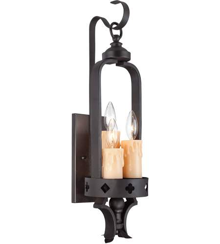 Savoy House Torre 3 Light Sconce in Forged Black 9-4402-3-17 photo