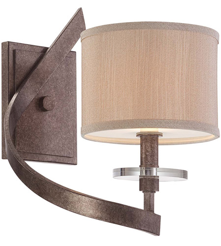 Savoy House Luzon 1 Light Wall Sconce in Antique Nickel 9-4432-1-285 photo