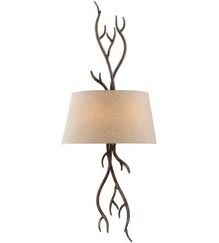 Savoy House Brambles 2 Light Sconce in Moonlit Bark 9-4803-2-132