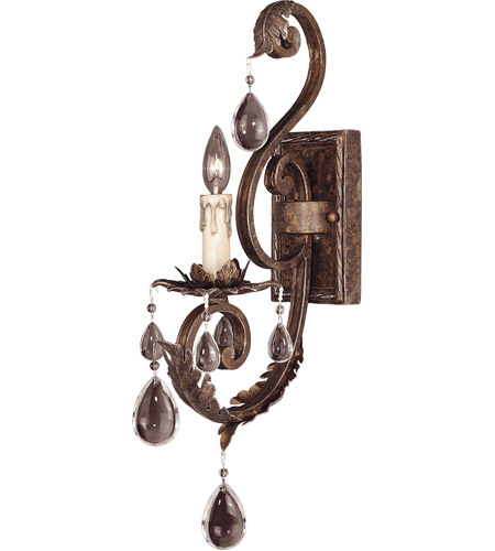 Savoy House Chastain 1 Light Wall Sconce in New Tortoise Shell w/ Silver 9-5316-1-8