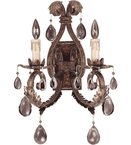 Savoy House Chastain 2 Light Wall Sconce in New Tortoise Shell w/ Silver 9-5317-2-8