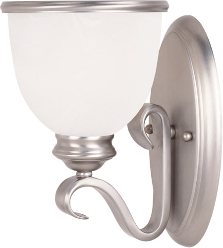 Savoy House 9-5780-1-69 Willoughby 1 Light 6 inch Pewter Sconce Wall Light in White Marble photo