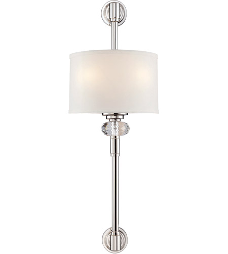 Savoy House Marlow 2 Light Wall Sconce in Polished Nickel 9-5951-2-109 photo