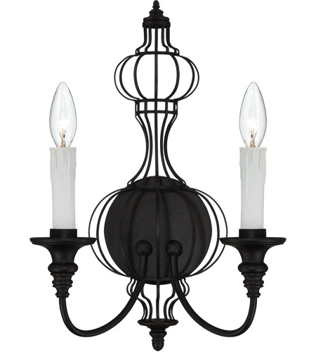 Savoy House Abagail 2 Light Sconce in Forged Black 9-6012-2-17 photo