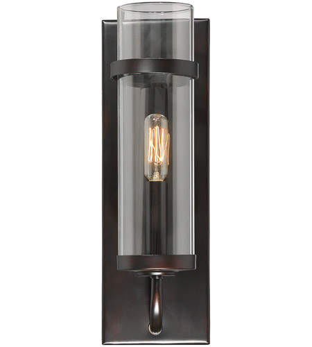 Savoy House 9 6054 1 13 Tulsa 1 Light 5 Inch English Bronze Wall Sconce Wall  Light