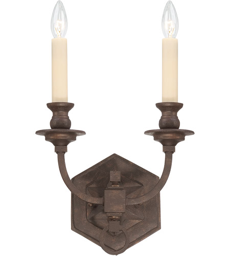 Savoy House Bastille 2 Light Wall Sconce in Heritage Bronze 9-6743-2-117 photo