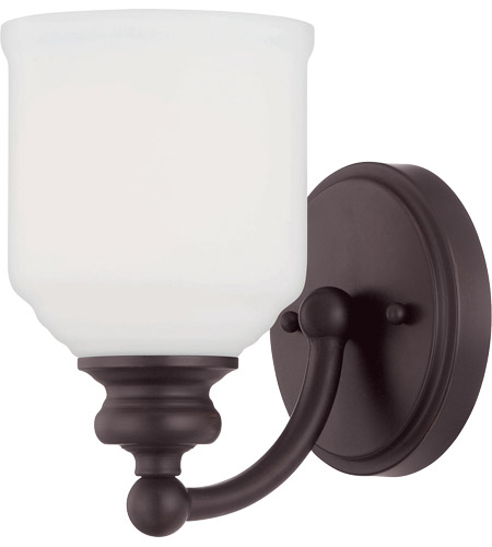 Savoy House Melrose 1 Light Sconce in English Bronze 9-6836-1-13